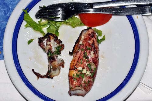 Grillet blæksprutte