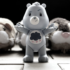 153/365 in which grumpy is being followed (mlsjs) Tags: toys carebear grumpy grumpybear object365 oneobject365daysproject zhuzhupets