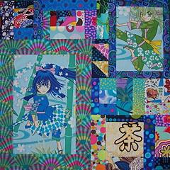 Anim girls 23 (clair101) Tags: original japanese quilt bright cartoon quilts patchwork anim alexanderhenry