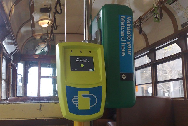 Myki and Metcard readers, W-class tram