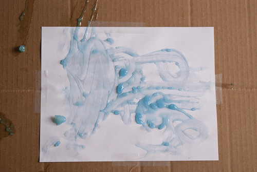cornstarch fingerpainting