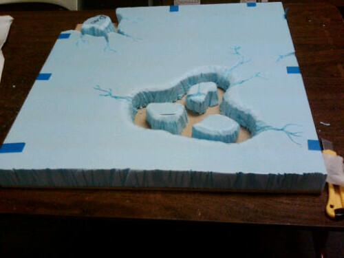 Mordor Terrain Lava Lake WIP