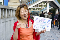 AFS-100399 (Alex Segre) Tags: travel portrait people woman smiling japan female youth portraits asian person japanese one tokyo 1 photo women hug asia alone young free posing photograph single harajuku only hugs females youths lookingatcamera alexsegre