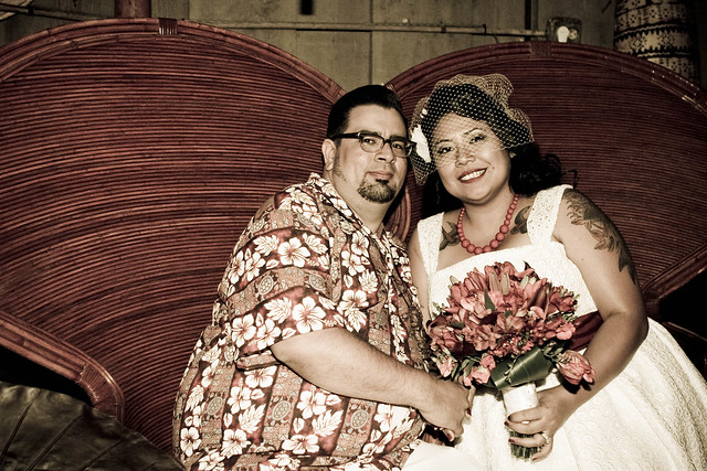 Danelle & Jason's Tiki Wedding