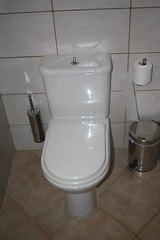 Typical Greek toilet