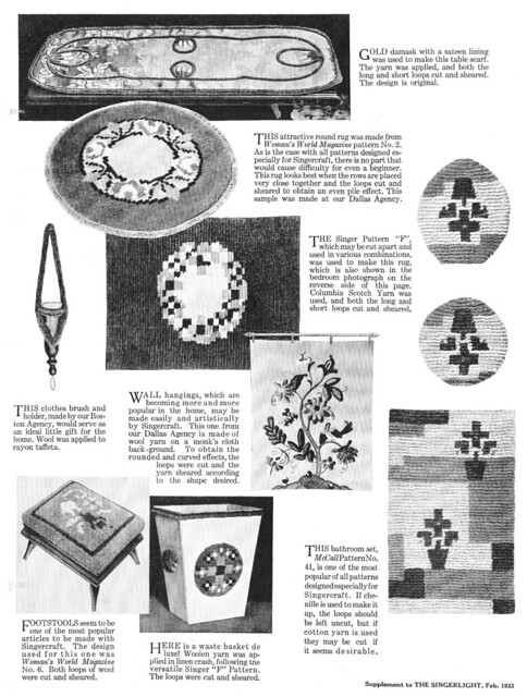 The Singercraft Guide: Supplement to the Singerlight, February 1933
