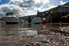 Safe Haven (me'nthedogs) Tags: harbour somerset moorings porlockweir