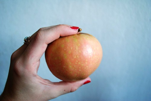 unassuming, mediocre-looking apple.