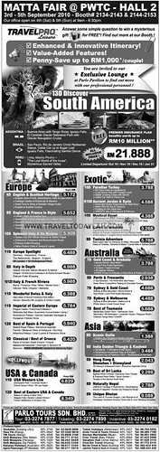 Parlo Tours Special Holidays to South America, Europe, North America, Asia, Australia