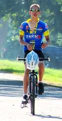Expecting a Win (Legin_2009) Tags: road street blue man male men guy bike bicycle outside outfit outdoor helmet guys tights racing cycle males caribbean shorts hommes lycra männer hombres mec люди mecs 男子 gason אנשים الرجال पुरुषों 男性homens
