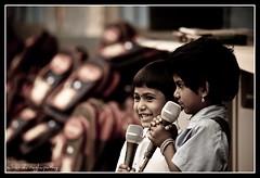 Rock stars! (sabarishr) Tags: school people india kids children bangalore potd mic function sabarishraghupathy
