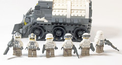 "Series-4 All Terrain ""Ox"" APC (Troops) (Titolian) Tags: terrain back all lego military amd best ox story future vehicle series division apc antarctic faction brickarms"