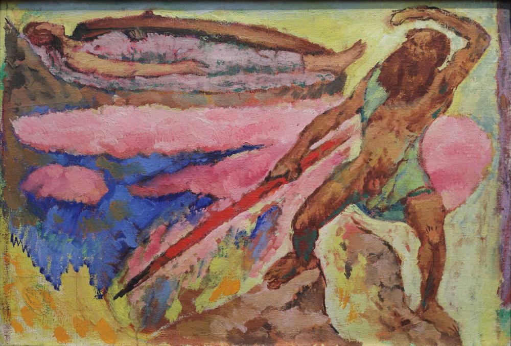 Koloman Moser, Wotan und Brünhilde, c 1916