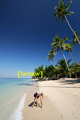 Gumasa Beach Kid (allanbarredo) Tags: sea beach sand getaway philippines bluesky palmtrees tropical whitesand coconuts glan generalsantos sarangani gumasa islajardindelmar