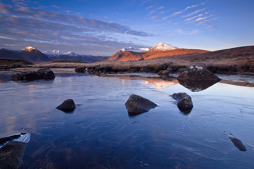 The Black Mount reflecting on Lochan na Stainge ~ Rannoch Moor, Scotland