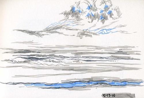 8-17-2010, Ocean Sketch