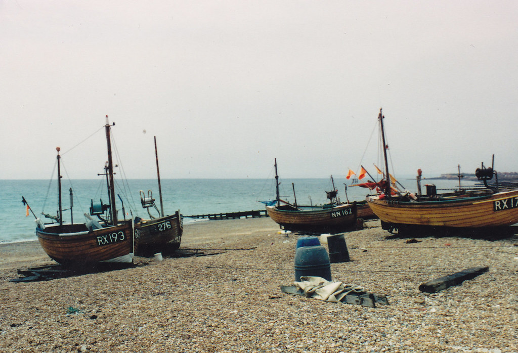 Bulverhyth Beach, about twenty years ago.