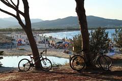 sardinia blues (chiarasilviaarmida) Tags: sardegna tramonto mare estate bici spiaggia controluce bicicletta ombrellone