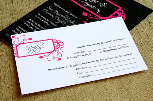 Pink And Black Wedding Invitations Part 21