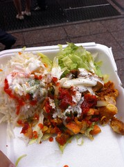 Spicy Chicken from Biryani Cart - Urban Oyster Food Cart Walking Tour NYC