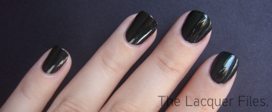 Hard Candy Envy Blackened Green Shimmer Nail Polish