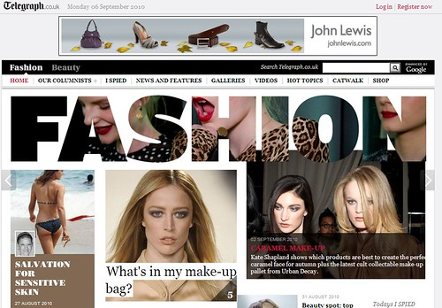 Telegraph.co.uk fashion pages