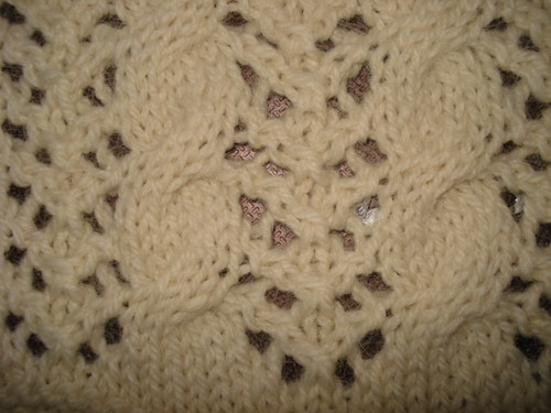 Double Knitting Stitches Per Inch : Lace Cable or Germain Stitch The Walker Treasury Project