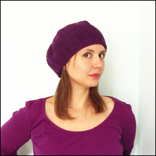 sophie beret in dark purple