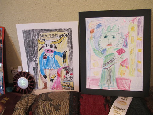 Crayon and colored pencil fair entries for Lil' Mermaid