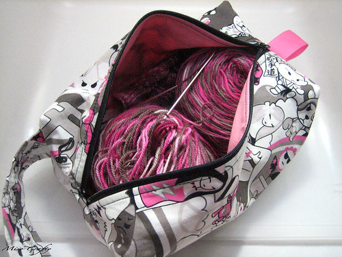 Kawaii Project Bag - Open