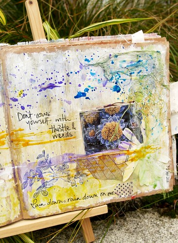 Thistle & Weeds - art journal page