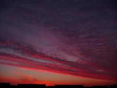 Sonnenaufgang (judith74) Tags: sky sun sol clouds sunrise himmel wolken redsky sonne sonnenaufgang morgen hiwosomoshots