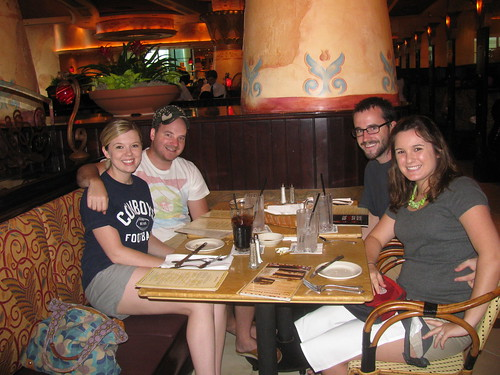 Tiffany, TJ, Aaron, Emily at Cheesecake Factory