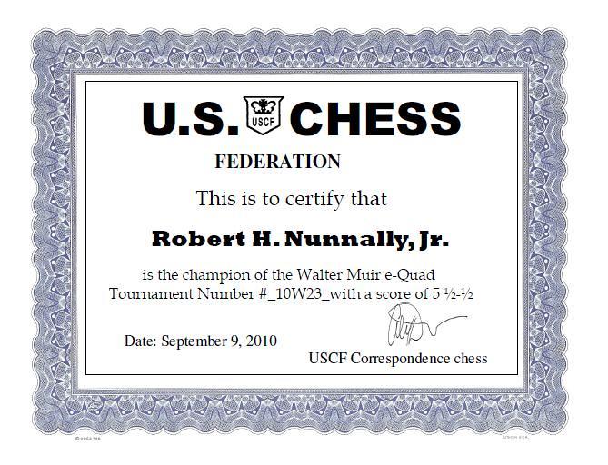Walter Muir Quad 10W23 Certificate