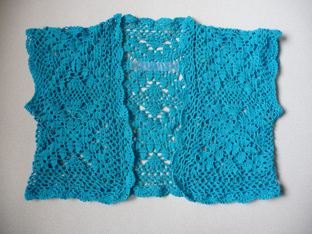 Completed Project: 10 squares lacey shrug | Miss Crafty Fingers