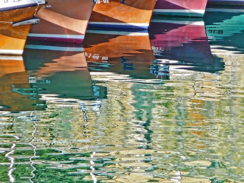 San Sebastian boat reflections I