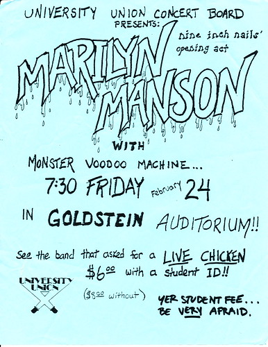 Marilyn Manson - Goldstein Auditorium - Syracuse - February 24