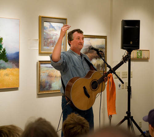 Ken got to open for Dana Lyons last night at the Confluence Gallery in Twisp!