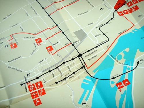 1976 Montreal Olympics Trails Map