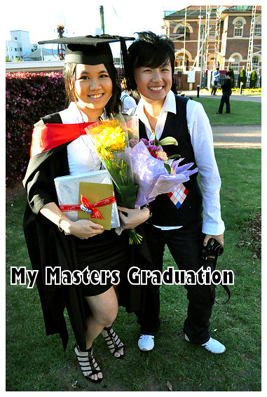 My Masters Graduation 2010: With San