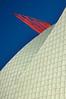 Aspiration (blinkingidiot) Tags: nottingham blue red sculpture white tower art public architecture modern campus university zoom jubilee aspiration ken tiles shuttleworth gherkin ambition aspire mygearandme mygearandmepremium mygearandmebronze aspiretowernottingham