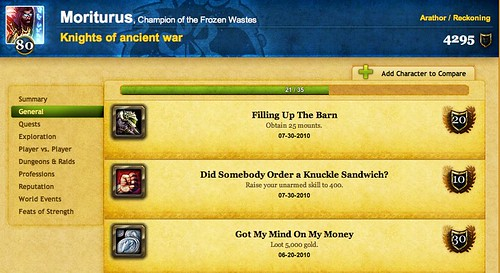 The World of Warcraft Armory - Moriturus @ Arathor - Achievements