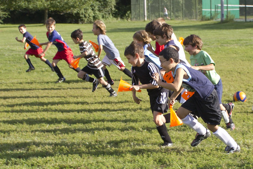 soccer cone race