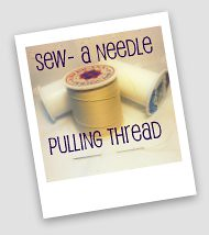 A needle pulling thread3