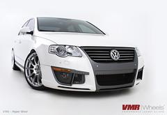 """VMR Wheels V701 19"""" Hyper Silver on Volkswagen Passat B6 White (VMR Wheels) Tags: silver with wheels hyper passat vmr b6 v701 velocitymotoring vmrwheels"""