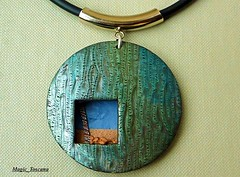Am Strand (Magic_Toscana) Tags: polymerclay faux schmuck raku kette anhnger premo alkoholtinte magictoscana