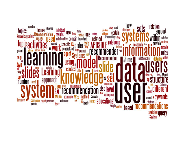 Wordcloud for RecSysTEL (day 1)