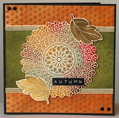 Autumn lace card (Anna-Karin (A-K)) Tags: heroarts cl298 s4878 cardpatterns s5317 september2010a
