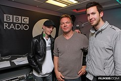 "Deadmau5, Pete Tong and Calvin Harris @ BBC Radio 1 (Drew ""Rukes"" Ressler) Tags: uk party london dj petetong rukes bbcradio1 calvinharris rukescom deadmau5 drewressler"