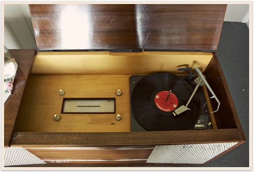 Our new vintage record player